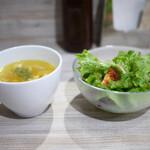 Kurogeshichirin - ランチセットのサラダ&スープ