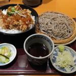 13529089 - 日替わりランチ・若鶏の黒酢あんかけ丼とお蕎麦のセット(780円) 12.05.29.