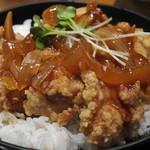 13529090 - ランチセットの若鶏黒酢あんかけ丼 12.05.29.