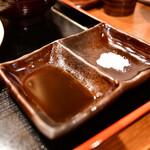 とんかつ まさむね - 【[限定部位]肩ロースかつ定食@1,880円】醤油&岩塩