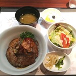 135295800 - フォアグラ ビーフステーキ丼