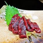 花水木 - ニタリクジラ刺身 2020/08/08