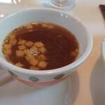 アルフォンソカフェ - ピラフセットのスープ  クルトンが美味しかった