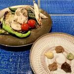 炭と蕎麦と釜めし はら田 - 炭焼野菜五種盛