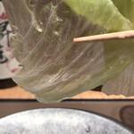 Sambyoushi - 噂の透き通った調理のレタス