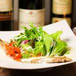 Chopstick French Cafe - 自家製ベーコンと彩りリーフのシーザーサラダ 893円