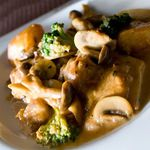 Chopstick French Cafe - 地鶏もも肉と茸のソテー ソースシャスール 1260円
