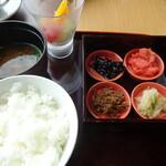 135326624 - 和食のモーニング 二段のお重で来ました
