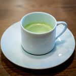 Furansuryouri yaoraryouriten - グリーンピースの冷たいスープ