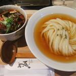 ひだりうま - 鶏ハラミとごぼうの大阪つけ麺