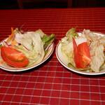 """135339206 - """"ミニサラダ""""は両方に付いてきます。2皿"""