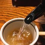 竹泉 - そば湯