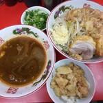 ラーメン二郎  - 料理写真:つけ麺並ニンニクアブラ+九条ネギ+脂飯 880+60+100円