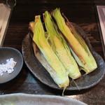 和・豊田 - ヤングコーンの素焼き