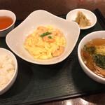 135342421 - 北斗青山店(海老と卵のやわらか塩風味炒め)