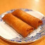 中国料理 琥珀 - 黒豚春巻