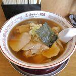 照月 - 料理写真:7分ほどで注文した「ワンタン麺(太麺)」750円が完成!  ※ちなみに細麺版もあり!
