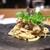 やまぐち - 料理写真:毛蟹のリングイネ。彩りにハーブとしその花♪