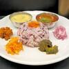 Curry Spice Gelateria KALPASI - 料理写真:本日のカレーから選んだ2種(A+C)タマリンドチキンカレー×クートゥ