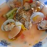 ロカンダきだや - フエフキ鯛とあさりのスープ