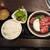 焼肉 坐旺 - カルビ+牛タンランチ(土日祝 1,408円)