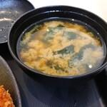 松乃家 - 味噌汁