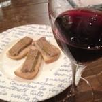 パルフィオーレ - 鶏レバーペーストには赤ワインやな〜♪