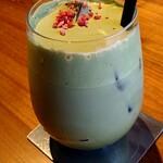 扇屋カフェ - ドリンク写真:抹茶ラテ
