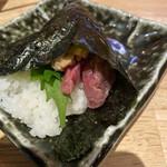 富山総曲輪 肉寿司 - さくら納豆(巻き寿司)