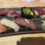 富山総曲輪 肉寿司 - 肉寿司盛り合わせ