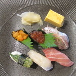 13539135 - 寿司・天婦羅 布のりそば膳