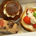 お菓子の館 あくつ - ケーキ3種 2012.6