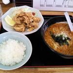 天芯ラーメン - 唐揚定食・味噌ラージャセット