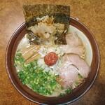 万人家 - 料理写真:宗太鰹と紀州梅の白だし冷やしラーメン