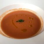 135406091 - 本日のスープ;トマトの冷製スープ                       2020/08/24訪問
