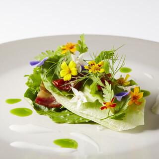 自然の恵みを味わう。繊細で美しい、目と舌で楽しめる料理の数々