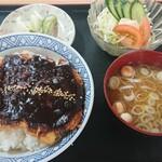 富貴亭 - 料理写真:みそカツ丼 900円 全景