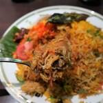 Halima kebab biryani - ビリヤニセット(1,051円税込)をAほくほくチキン。