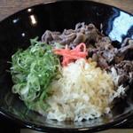 13542384 - 特選丹波牛肉ぶっかけ(800円)