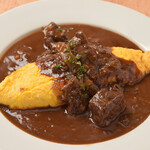 フレンチーナ - フォアグラオムレツ~牛ほほ肉の味噌赤ワイン煮ソース~