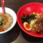 ラー麺 ずんどう屋 - 料理写真:冷やし豚骨つけ麺並782円税抜細麺選択