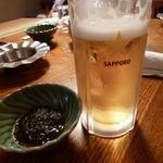 大衆割烹 三州屋 - 生ビール&お通しのもずく酢