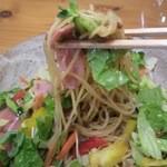 森のアトリエ - 細麺パスタ♪野菜一杯♪