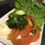 焼肉 千山閣 - 生野菜