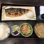 北陸 集らく - 鯖の奥能登天然塩焼き定食@1,000円