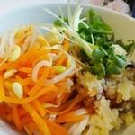 13547096 - 冷し寒天豆乳ジャージャー麺(アップ)