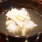 味享 - 淡路産の鱧と松茸のしゃぶしゃぶ椀