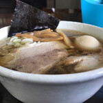 太麺屋 - 小盛り太麺あぶらっぽく650円+半熟味玉100円