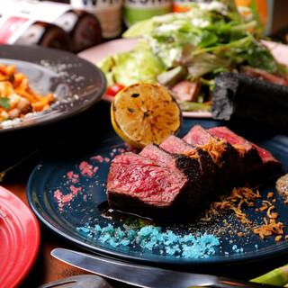 黒毛和牛、大和肉鶏など、らんぷ自慢の肉料理を…★