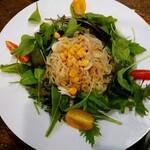 夏油古民家カフェ小昼 - 夏油味噌の冷し麺